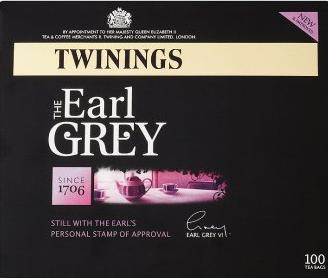 TWININGS The Earl Grey. Still with the Earl's Personal stamp of approval : 100 b - null