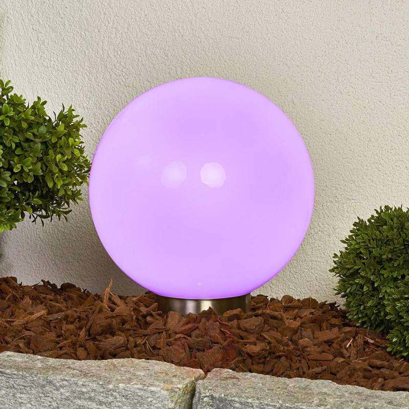 Friederika RGB solar light, spherical shape, 30 cm - outdoor-led-lights