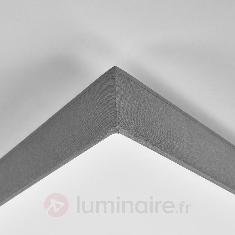 Plafonnier en tissu gris Aka LED - Plafonniers en tissu
