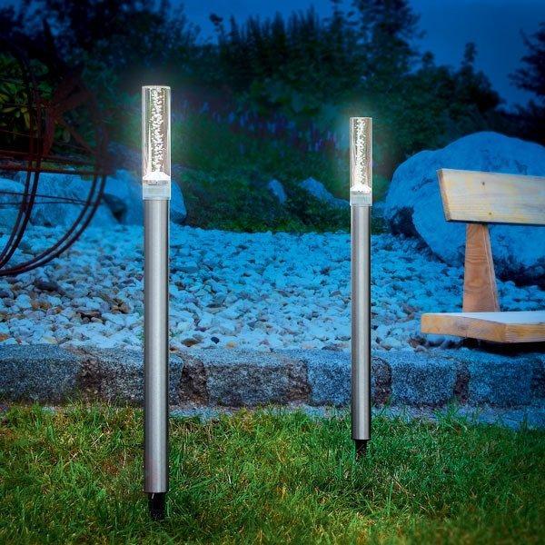 *Set de 2 bâtons lumineux solaires design TWIN - Lampes solaires décoratives