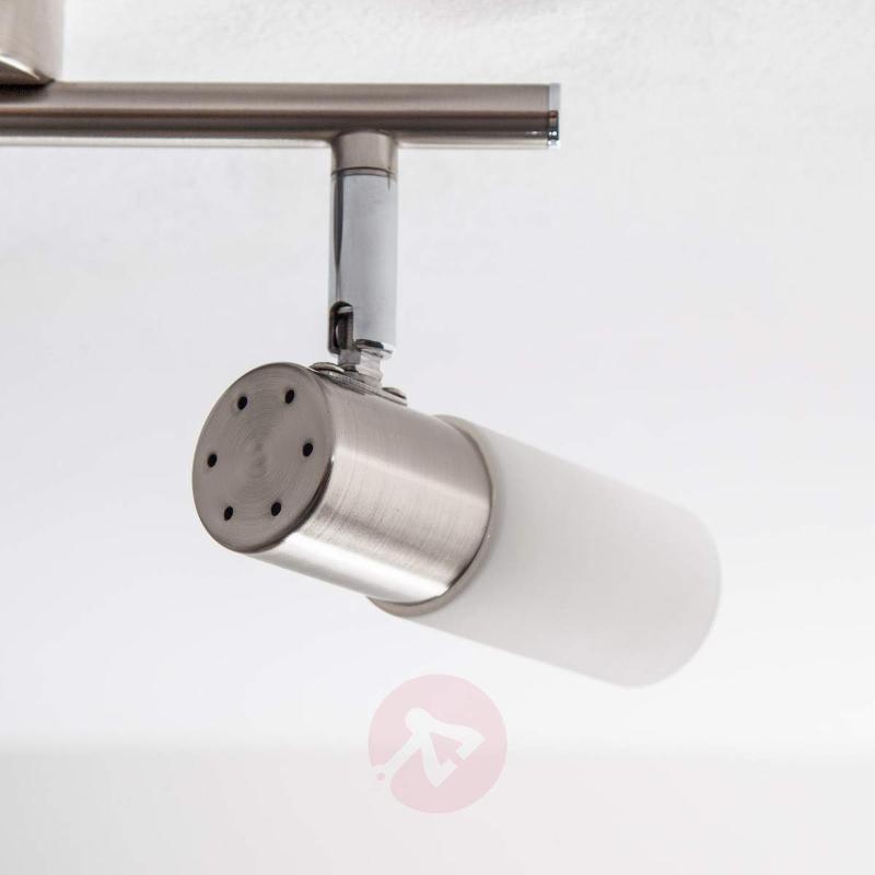Tamia 2-bulb LED ceiling light, matt nickel - Ceiling Lights