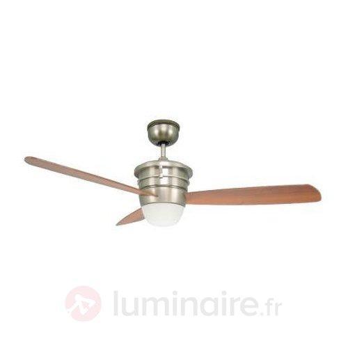 Ventilateur de plafond Sonata avec 3 pales en bois - Ventilateurs de plafond lumineux