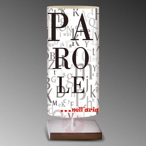 Black and white table lamp Words - Table Lamps
