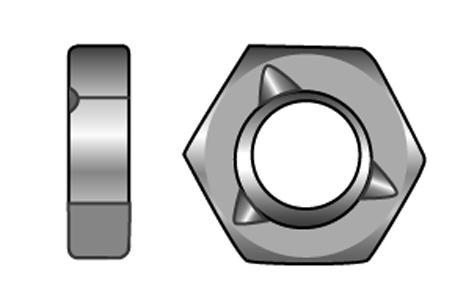 Sechskantmuttern, selbstsichernd mit Klemmteil - Material A2 | A4 | 1.4571 | 1.4462 | 1.4529