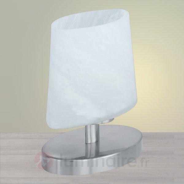 Petite lampe à poser ovale avec verrerie - Lampes de chevet
