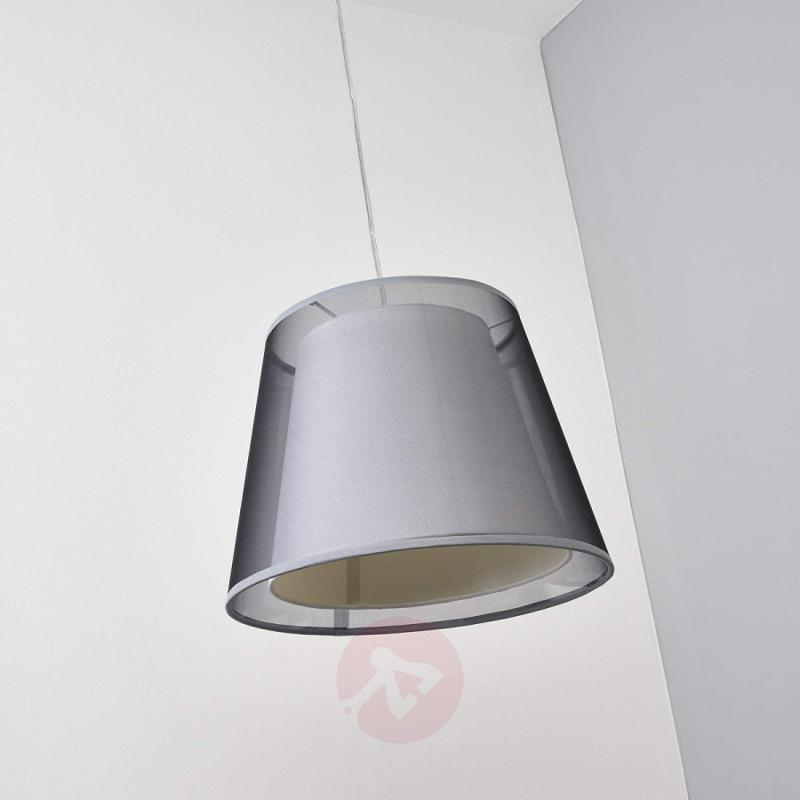 Black pendant lamp Weni with double lampshade - indoor-lighting