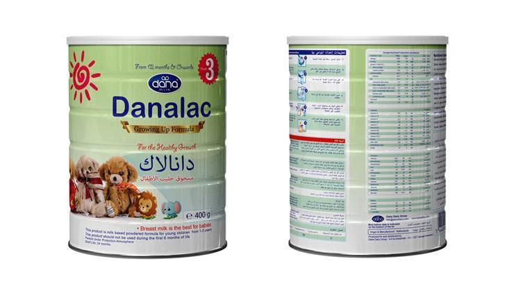 تركيبة حليب دانالاك للرضع - المرحلة 1: تركيبة الرضع، المرحلة 2: تركيبة المتابعة، المرحلة 3: تركيبة النمو
