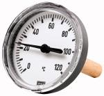 Bi-metallic thermometer rear G 1/2, Immersion shaft... - Bimetallic thermometers (for heating plants)