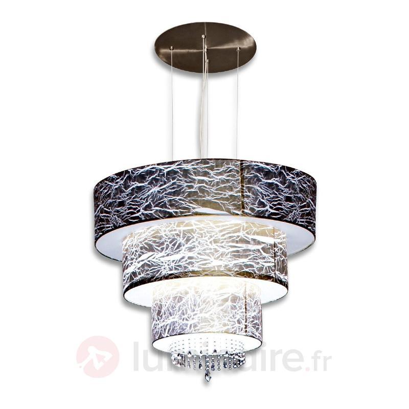 Suspension grandiose Strapono avec décor cristal - Suspensions en cristal