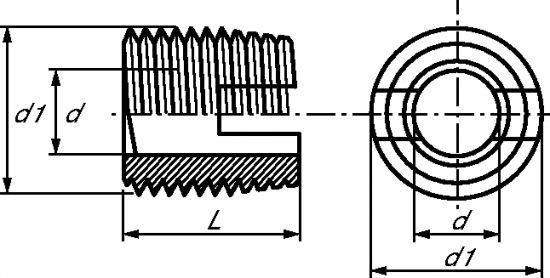 INSERT MÉTAL (FILETAGE ET TARAUDAGE MÉTRIQUE)  - INOX A1 (219710)