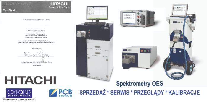 Serwis i przeglądy spektrometrów iskrowych OES - autoryzowany serwis HITACHI