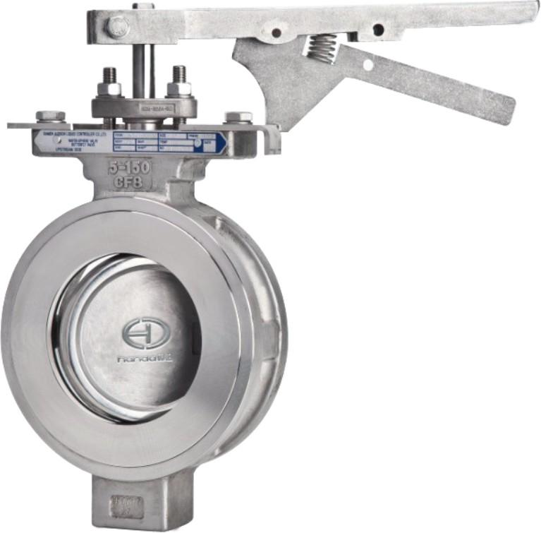 High performance Double-eccentric wafer Butterfly Valve