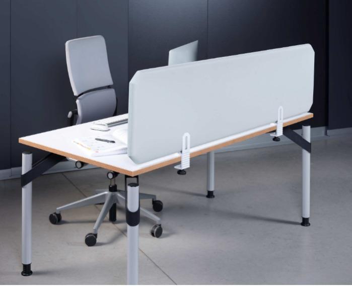 Oktagon Hygieneschutz Tischtrennwand, antimikrobiell + antiv - Tischaufsatz / Trennwand für Schreibtische, antimikrobiell + antiviral