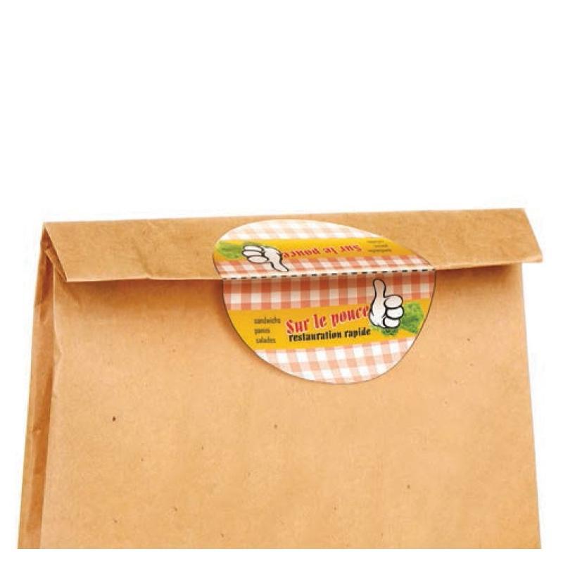 Étiquettes pour fermer les sacs - Etiquette autocollante pour boutique