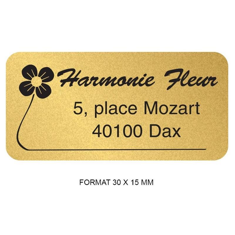Étiquettes mini noir et or - Etiquette autocollante pour boutique