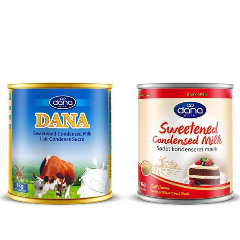 Leite condensado DANA - Disponível em latas de 400g ou 1Kg