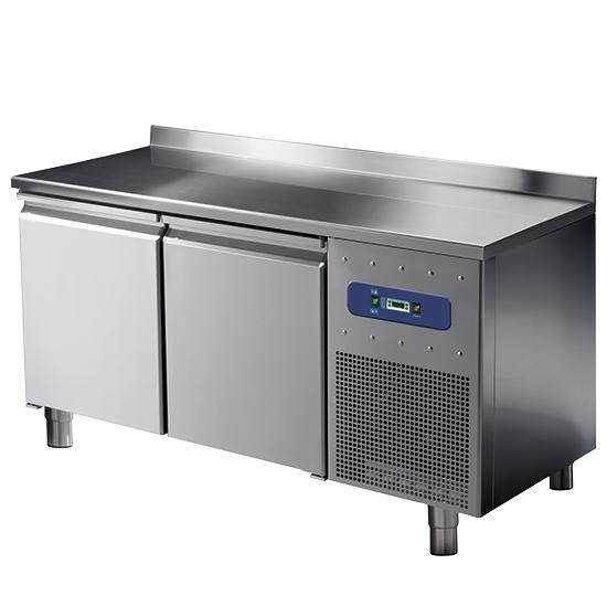 Refrigeration - refrigerated counter with 2 doors GN 1/1 and upstand, -2°/+8