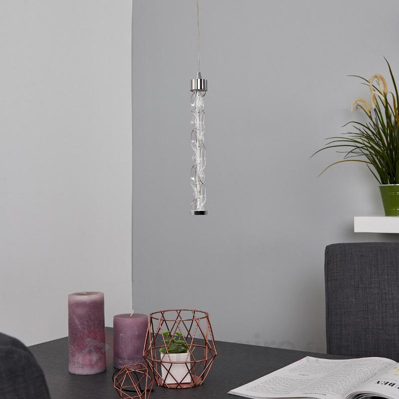 Suspension LED à 1 lampe Rieke en verre - Suspensions LED