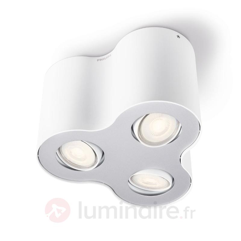Plafonnier LED Pillar à 3 lampes blanc - Spots et projecteurs LED
