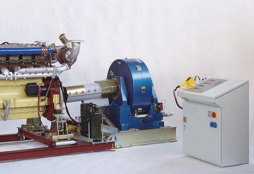 Bancos de prueba de la potencia de motores - Dinamómetros de freno de diferentes formas constructivas