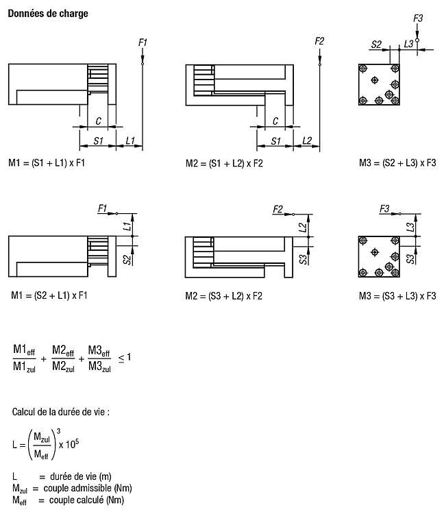 Unité de déplacement pneumatique à guidage sur rail - Système de manipulation pneumatique