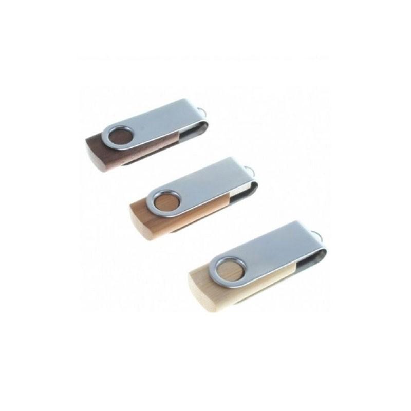 Cle USB Bois Pivotante Eco - Clé USB Bois & Biodégradable