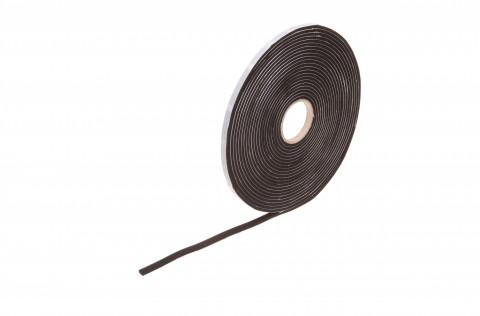 rolls of EPDM foam rubber, black, 4 mm thick 10 m : 9 mm - made from Steierform 87-71914, Rubber Tape