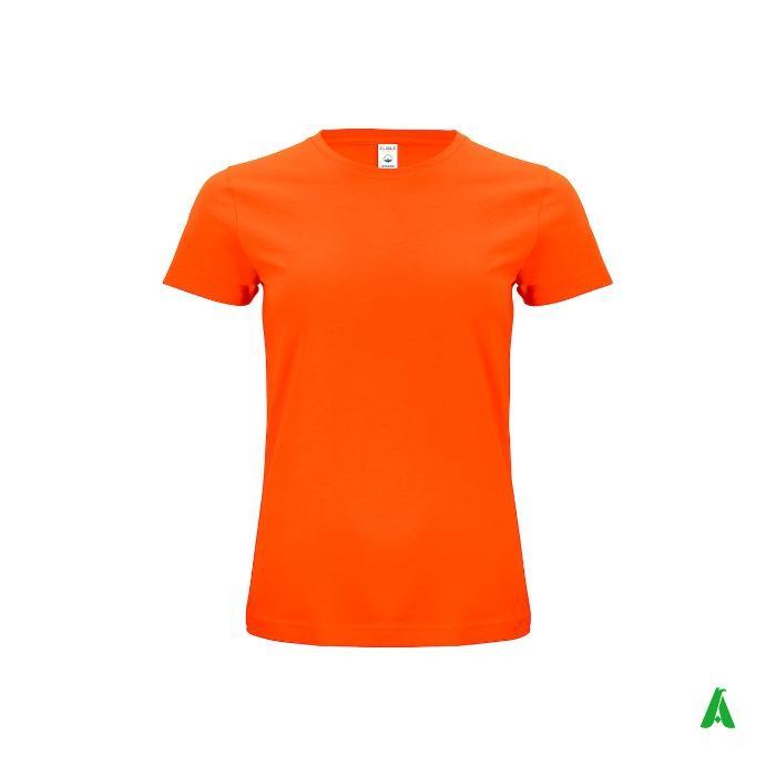 T-shirt 100% cotone organico di qualita',girocollo per donna - T-shirt donna girocollo di qualita', 100% cotone organico elegante e finissimo