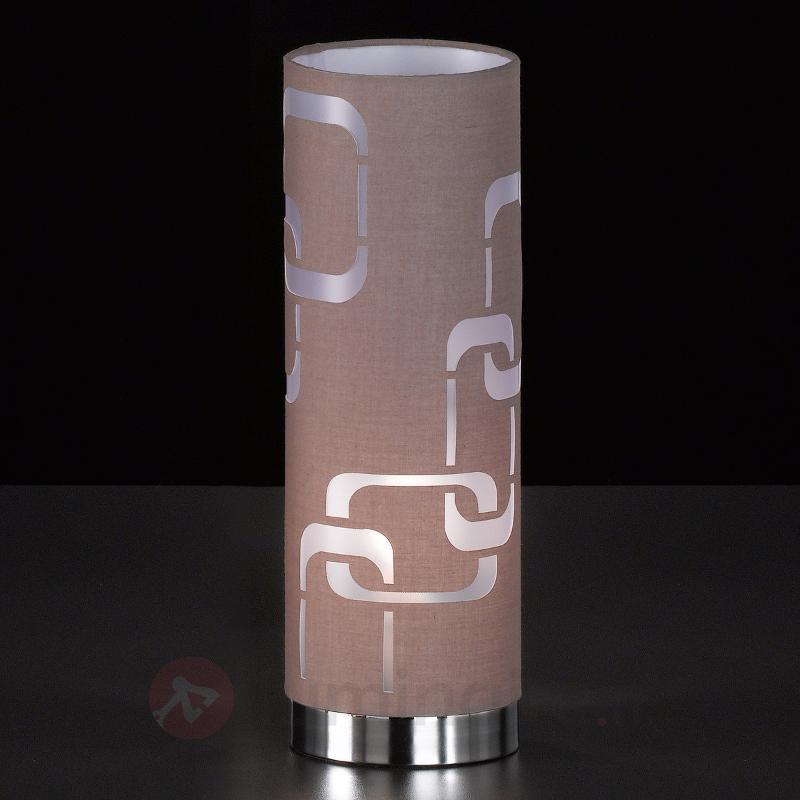 Lampe à poser textile cappuccino Seventies - Lampes à poser en tissu