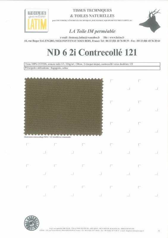 ND 6 2i Contrecollé 121 - Toiles naturelles