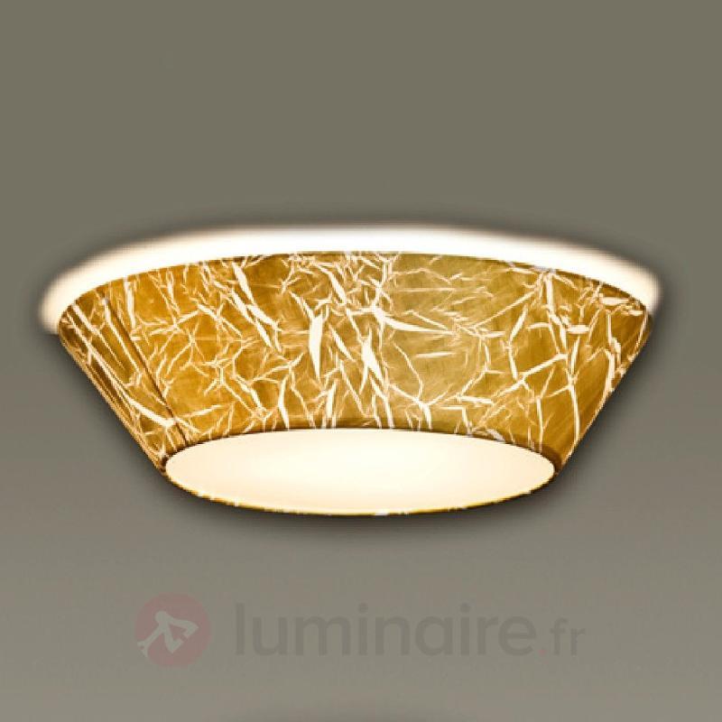 Plafonnier Arius avec feuille d'or - Chambre à coucher