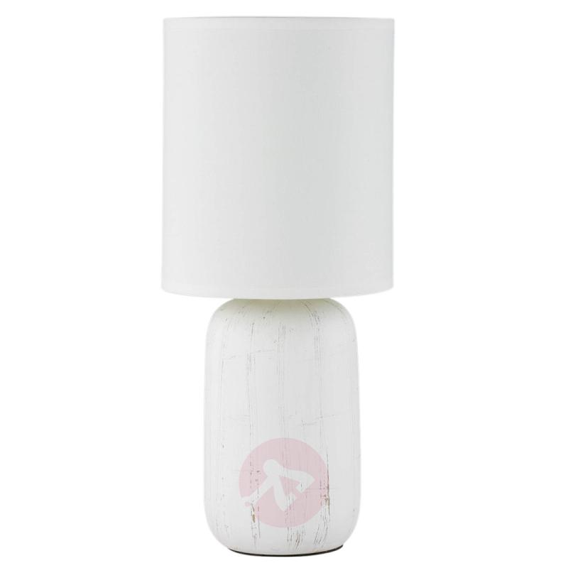 Ceramic table lamp Clay with fabric lampshade - indoor-lighting