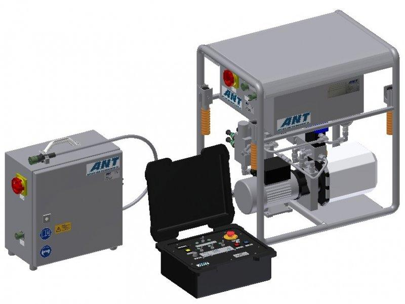 Hydraulic unit MACE - Control of the cutting axis of the cutting devices
