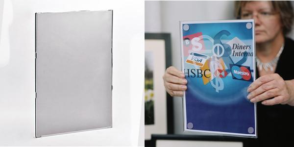Standaard displays voor documenten - Taymar® gamma: documenthouder wandmodel: NH210