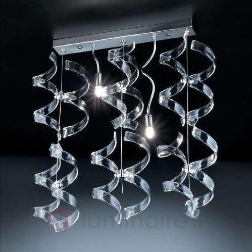 Avenante suspension CRYSTAL, 2 lampes - Suspensions en verre