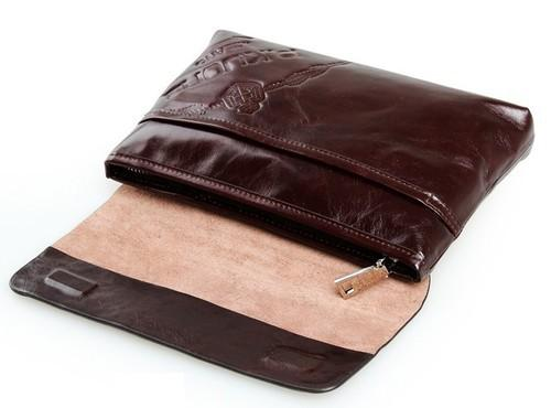 Leather Clutch Purse  -