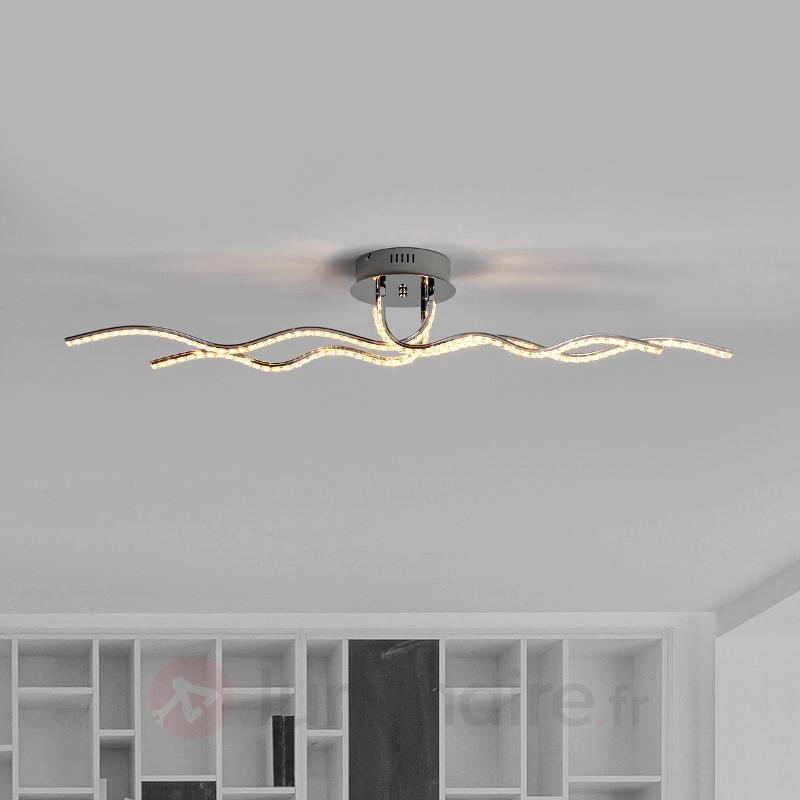 Plafonnier de forme ondulée Malik à LED - Plafonniers LED