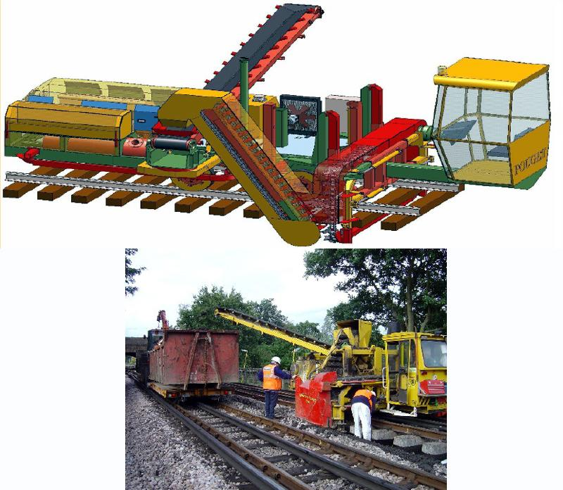 Machines for Track Works - Ballast Cleaning Machine (movable by Truck)