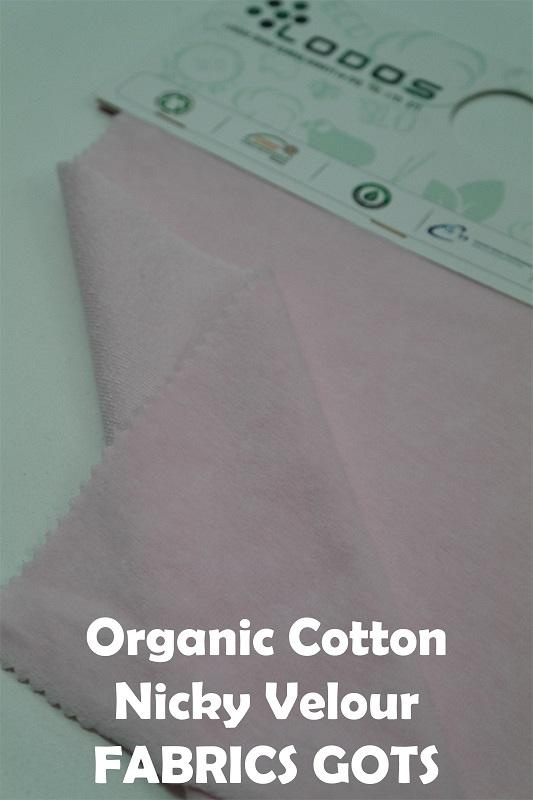 Organic Cotton Nicky Velour GOTS - Organic Cotton Nicky Fabric, very soft