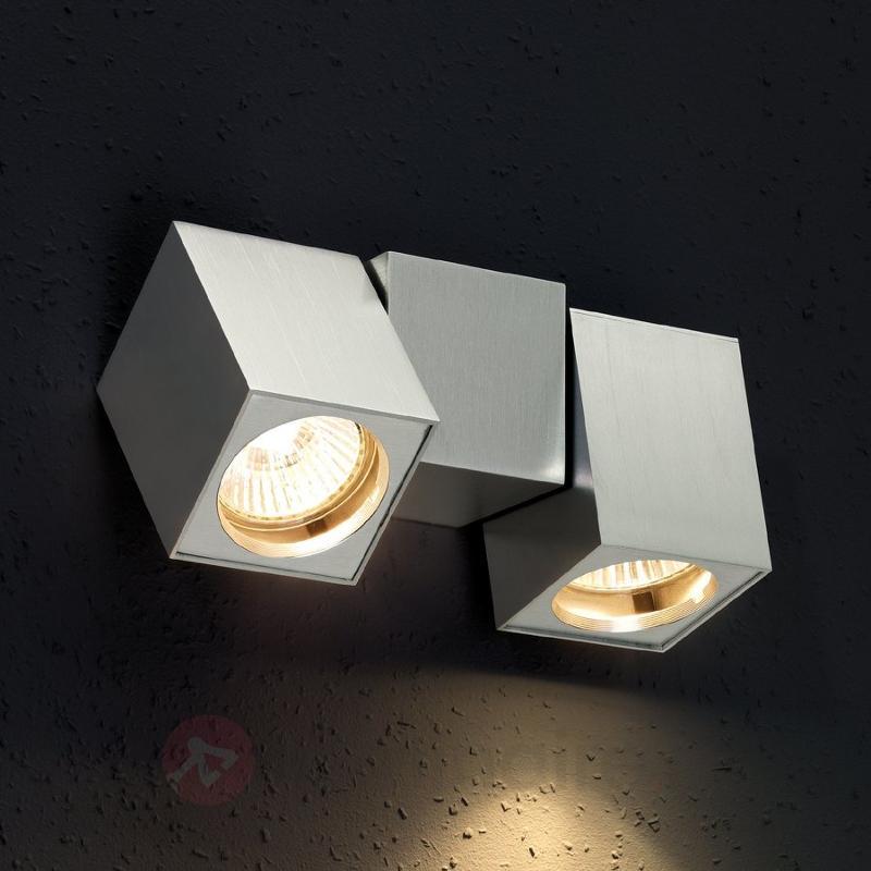 Applique inclinable CUB à 2 lampes - Appliques chromées/nickel/inox