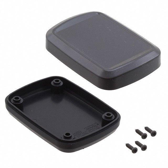 """BOX ABS BLACK 2.74""""L X 1.99""""W - Bud Industries HH-3641"""