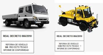 Reformas de Importancia en Vehiculos