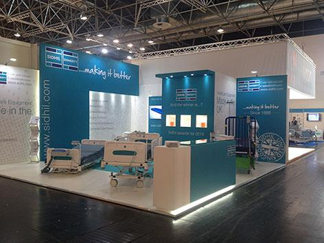 The Sidhil booth at Medica 2015, Dusseldorf