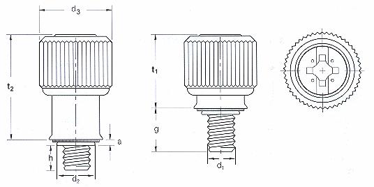 Self-clinching fasteners - PEM® - Self-clinching panel fasteners Type PF11