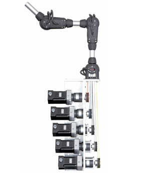 Articulated arms with drive unit Drive unit 3 DOF - null