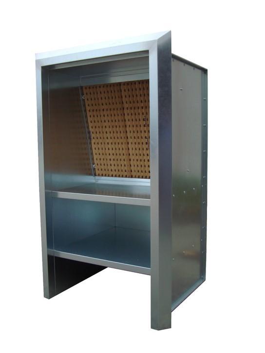 cabine à filtres sec - cabine de peinture ouverte
