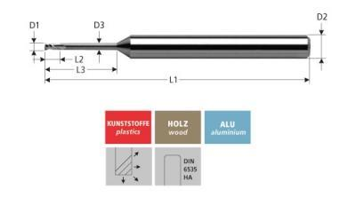 Milling Tools: for plastics - sc micro end mill