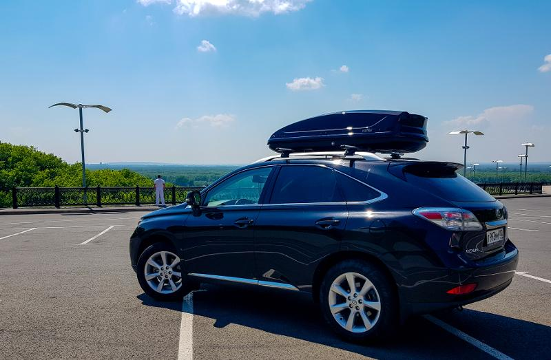 Roof box Koffer A-440 - Black Glossy