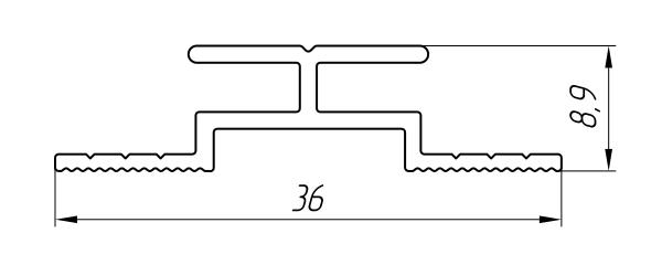 Aluminum Profile For Ventilated Facades Ат-3660 - Construction aluminum profile