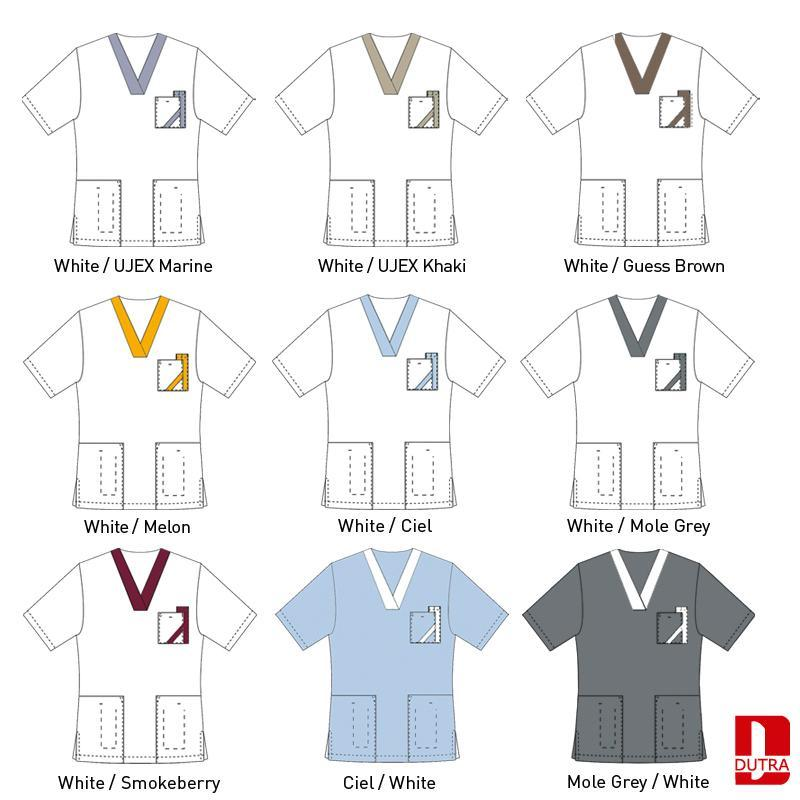 Veste pour personnel soignant - Veste col V contrasté - Arcadie